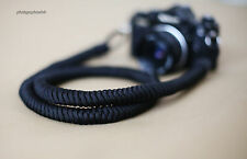 Dstyle All black 16mm Hand knit Chinese knot handmade Camera neck strap SLR/DSLR