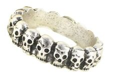 Silver Skull Toe Finger Ring Biker Gothic Punk Mens Women Fancy Unisex Jewellery
