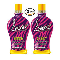2pk Supre SNOOKI SKINNY Ultra Streak Free Bronzer Indoor Tanning Lotion 12oz ea