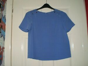 "Blouse""Dorothy Perkins""Petite Blue Colour Size: 4 ( UK ) Eur 32 New With Tags"