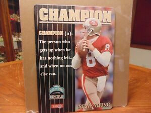 """Vintage NFL """"All-Pro Principles: CHAMPION"""" Steve Young Sign  SF 49ers"""