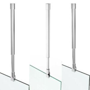 Deckenhalter Stabilisator Haltestange Duschwand Rohr Chrom Edelstahl Glas ESG