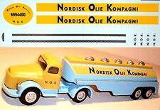 Tekno Scania Nordisk Olio Kompagni Autocisterna 1:50 Decalcomania