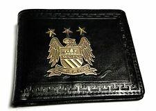 Black Faux Leather Manchester City FC Team Badge / Crest Bifold Wallet BNIB