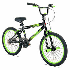 "Razor 20"" High Roller Kids Freestyle BMX Bike with Front Pegs, Black and Green"