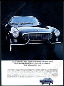 1963 Volvo P1800 black car color photo vintage print ad