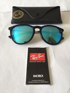 RAYBAN LADIES SUNGLASSES MODEL RB4171 ERICKA IN COLOUR 601/55 BLACK BLUE MIRROR