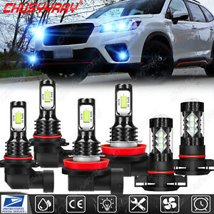 For Subaru Forester 2014-2019 Kit faros LED combinados Luz antiniebla alta baja