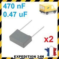 Lot de 2 Condensateurs MKP X2 0.47uF 0.47µF 470nF 474K 275V 310V 15mm