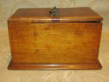 A Delightful Large Victorian Oak Tea Caddy Box