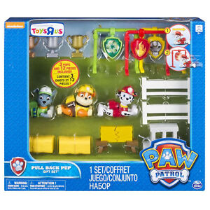 Nickelodeon Paw Patrol Pull Back Pup Gift Set  Marshall, Rubble and Rocky NEW!