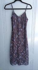 new Top Shop Topshop midi maxi cami chiffon blue purple indigo dress size 6