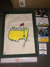 JORDAN SPIETH SIGNED AUTOGRAPHED GOLF PIN FLAG UNDATED MASTERS-BECKETT BAS COA