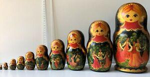 Matriochkas - Poupées Russes - Russian Dolls - 10 pièces