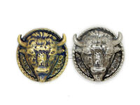 2PCS Bison Bull Buffalo Screw Back Concho Gaur Rodeo Indian Cowboy Leathercraft
