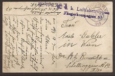 AUSTRIA / ITALY. AIR FORCE FELDPOST. 1916. WW1. FPO 145. FLIEGERKOMPANIE 67.