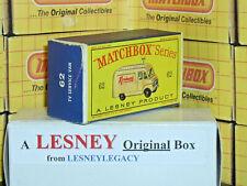 Matchbox Lesney 62b Commer RENTASET TV Service Van Type D EMPTY ORIGINAL BOX