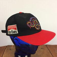 95a5d22f6b8 Rare Vintage 80s 90s Marlboro Cigarettes Snak Big Logo Racing Hat Cap Grunge