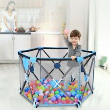 Large Folding Travel Baby Playpen Ball Pool w/Cover Bag Kid Safety Fence Camping