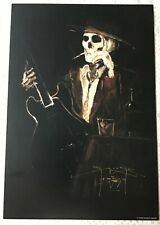 SIGNED By STANLEY MOUSE- BOURBON & SMOKES? POSTER 13 X 19