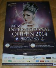 EVENT FLYER -MISS INTERNATIONAL QUEEN 2014 - PATTAYA  THAILAND -LADY BOY CONTEST