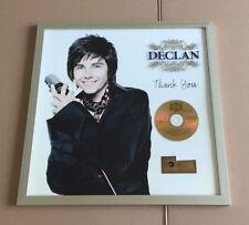 """Declan Gold Award """"Thank You"""" ( goldene Schallplatte ) Deutschland 2007"""