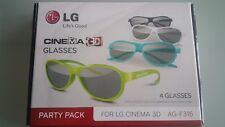 LG AG-F315 3D Brillen Party Pack NEU
