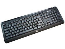HP KG-1061 US ENGLISH BLACK SLIM WIRELESS DESKTOP KEYBOARD 667112-372 NO DONGLE