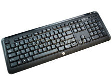 HP US ENGLISH BLACK WIRELESS KEYBOARD 667112-372 WUG1137 KG-1061 USA - NO DONGLE