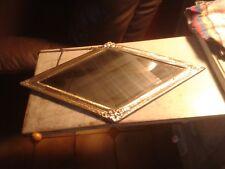 miroir forme Losange en  bronze, laiton ou cuivre  repousser , Louis XVI