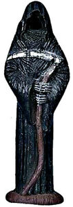 "Grim Reaper Death Santa Muerte Incense Cone Burner Holder 12"" H"