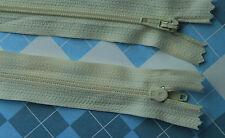 10 x 16cm CREAM  zips dress zippers (#199)