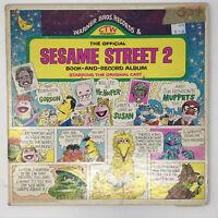Sesame Street 2 - Book And Record Album LP Vinyl Original 1971