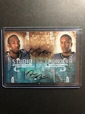 2009 ROOKIES & STARS STUDIO DUAL AUTO RC Aaron Curry Deon Butler #'d 8/10 - Rare