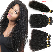 8A Kinky Curly 1/3/4Bundles Natural Color Brazilian Remy Human Hair Extensions