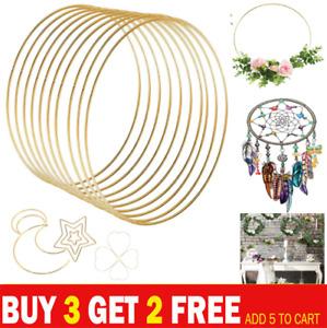 1x Metal Floral Hoop Wreath Macrame for Xmas Rings Wedding DIY Hanging Craft