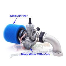 28mm Mikuni VM24 Carb Carburetor 42mm Air Filter Manifold Intake Pipe Gasket Set