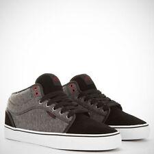 Vans Chukka Low Mid Top Fleece Black/Dark Gray Suede Men's Skate Shoes SIZE 7.5