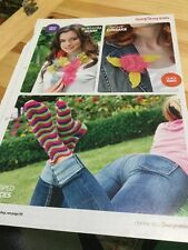 Quick, Easy Striped Socks, Corsage, Blossom / Flower Scarf Knitting Pattern