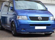 VW TRANSPORTER T5 LOWER FRONT ABS GLOSS BLACK SPLITTER SPOILER BUMPER LIP 03-09