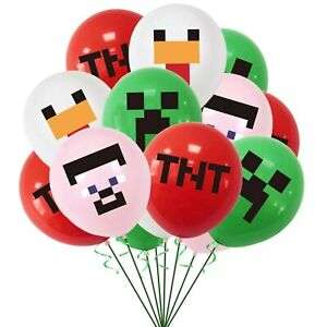 8-24pcs Minecraft Gaming Latex Party Everyday Balloons