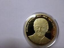 DONALD TRUMP  2017-2021 / PRÄSIDENT  DER USA, Gedenkmünze  vergoldet