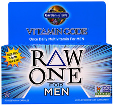 NEW GARDEN OF LIFE VITAMIN CODE RAW ONE ONCE DAILY MULTI-VITAMIN FOR MEN CARE