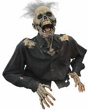 HALLOWEEN LIFE SIZE ANIMATED DEATH RISING ZOMBIE  PROP DECORATION ANIMATRONIC