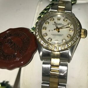 ROLEX Lady's 18k Gold 2 Tone & Diamond TimePiece