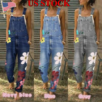Women Trousers Dungarees Jumpsuits Overalls Denim Jeans Bib Trousers Long Pants