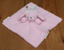 Blankets & Beyond Baby Girl Sherpa Security Blanket ~ Bunny ~ Pink & Gray