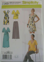 Simplicity 2369 Misses Wrap Dress Tunic & Pants Sizes 16-24 In K Designs Pattern
