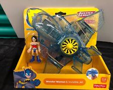DC Super Friends Justice League iMAGINEXT Wonder Woman & Invisible Jet Plane