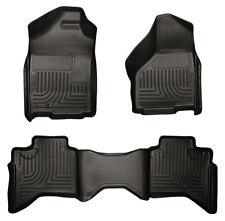 2010-2012 Dodge Ram MEGA Cab Floor Mats Husky Liners WeatherBEATER BLACK Mat